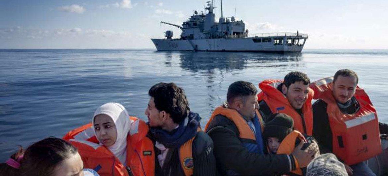 Refugiados sirios rescatados en el Mediterraneo  Foto:  ACNUR/A. Amato