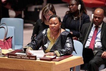 المدعية العامة للمحكمة الجنائية الدولية السيدة فاتو بنسودا. المصدر: الأمم المتحدة: إيفان شنايدر