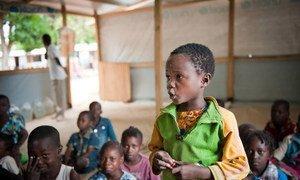 Des enfants centrafricains.