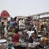 Internally displaced people shelter at the airport in Bangui, Central African Republic, one of the three countries which experienced the highest levels of new displacement in 2013.