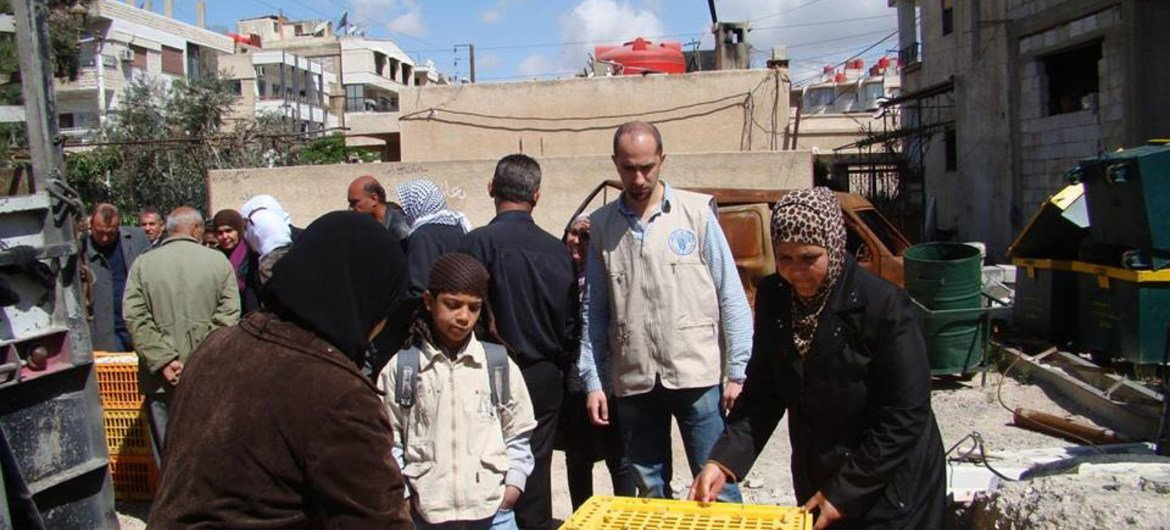 FAO is helping needy Syrian families.