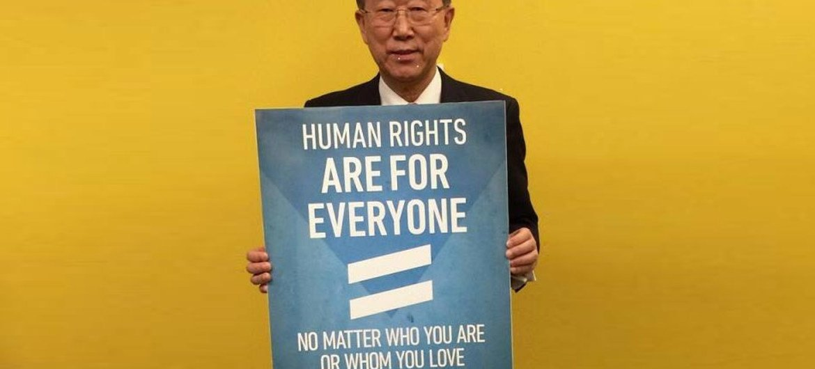 Human rights are for everyone says Secretary-General Ban Ki-moon marking International Day Against Homophobia and Transphobia.