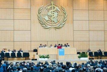 Ouverture de la 67ème Assemblée mondiale de la santé à Genève.