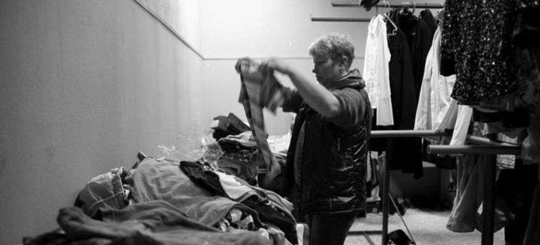 Une femme déplacée dans un centre abritant des personnes originaires de Crimée (archives).