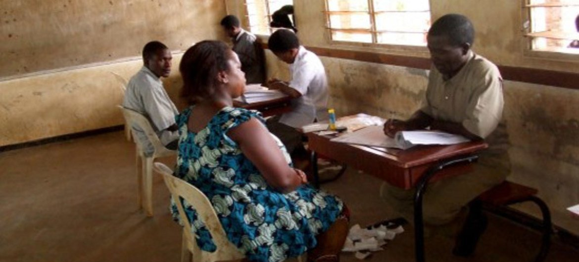 Registration takes place for the May 2014 Tripartite Elections in Malawi.
