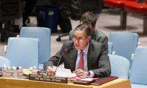 Assistant Secretary-General for Political Affairs Oscar Fernández-Taranco briefs the Security Council on the situation in the Middle East, including the Palestinian Question.