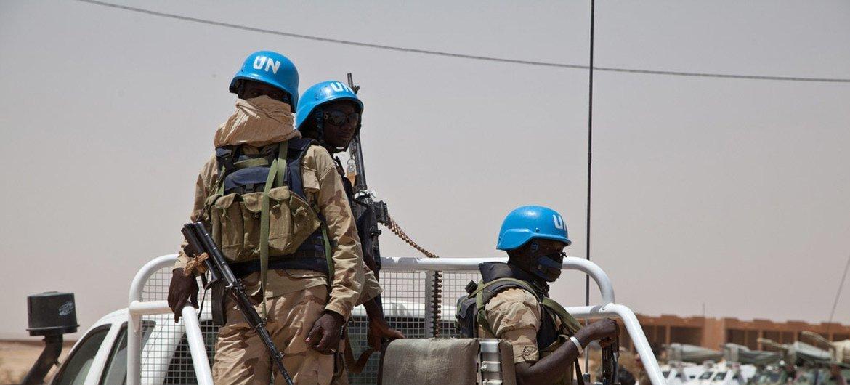 Soldados de paz no Mali.