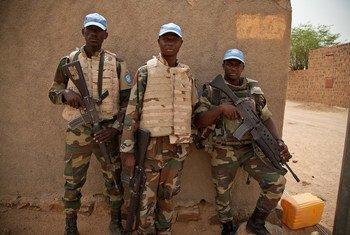 Des Casques bleus de la MINUSMA à Kidal, au Mali. Photo MINUSMA/Blagoje Grujic