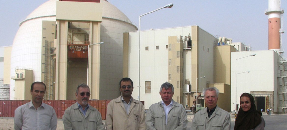 IAEA's Integrated Regulatory Review Service (IRRS) mission members on a visit in 2010 to Iran's first nuclear power plant in Bushehr.