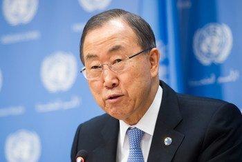 Le Secrétaire général Ban Ki-moon, Photo ONU/Mark Garten