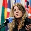 La representante especial del Secretario General para Sudán del Sur y jefa de la UNMISS, Hilde Johnson  Foto,  ONU/Paulo Filgueiras
