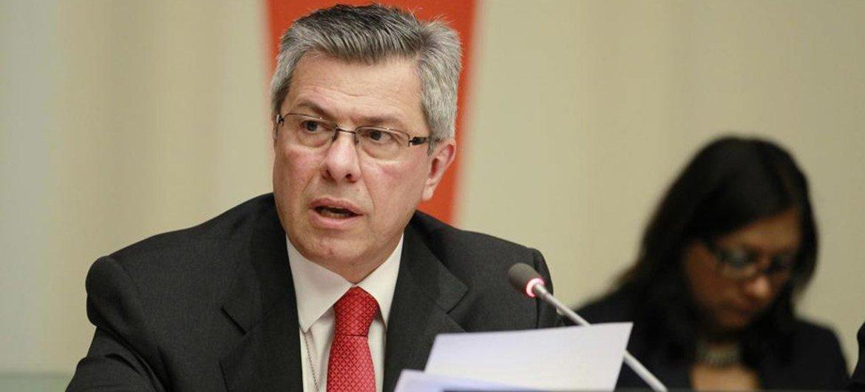 ECOSOC Vice-President Vladimir Drobnjak,  addresses the opening of the three-day integration segment.