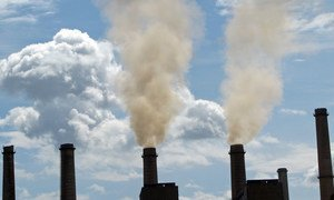 Emissions from an old coal-fired power plant in Kosovo.