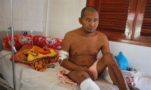 Un homme cambodgien de 46 ans a perdu sa jambe en raison du diabète. Les maladies non transmissibles (MNT) causent chaque année 15 millions de décès.