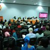 Wide view of participants at the Global Summit to End Sexual Violence in Conflict being held in London.