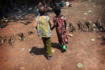 Des enfants dans la capitale centrafricaine, Bangui.