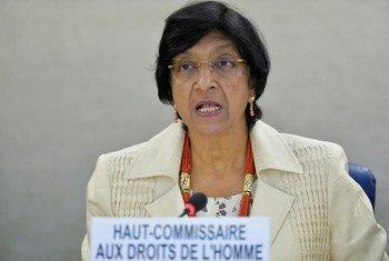 La Haut-Commissaire des Nations Unies aux droits de l'homme, Navi Pillay. Photo ONU/Jean-Marc Ferré