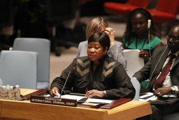 La fiscal de la Corte Penal Internacional, Fatou Bensouda, en una sesión del Consejo de Seguridad  Foto archivo:  ONU/Paulo Filgueiras