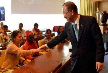 El Secretario General de la ONU, Ban Ki-moon,  visita la sede de la OIT  Foto: OIT Marcel Crozet