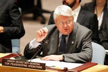 Hervé Ladsous en el Consejo de Seguridad. Foto de archivo: ONU/Paulo Filgueiras