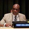 El presidente de la Asamblea General, John Ashe  Foto archivo. ONU/ Paulo Filgueiras