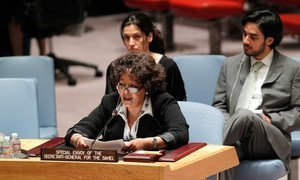 Special Envoy for the Sahel Guebre Sellassie briefs the Security Council for the first time since her appointment on 1 May 2014.