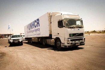 Convoy de ayuda humanitaria en Siria  Foto.ACNUR/B. Diab