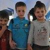 Niños desplazados en la region iraquí de Kurdistán  FotoUNAMI