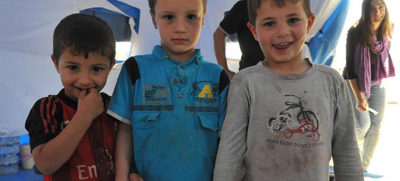 Children in the Khazar IDP camp in the Kurdistan Region of Iraq.