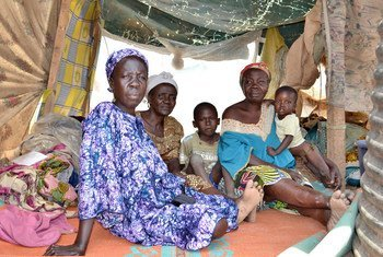 Internally displaced women and children in the Central African Republic.