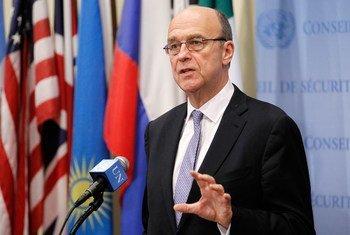 El coordinador especial de la ONU para Líbano, Derek Plumbly   Foto. ONU/Paulo Filgueiras