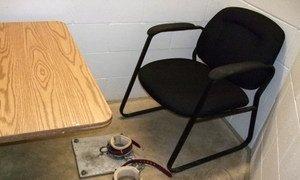 Une cellule dans une prison de sécurité maximale. Photo Emma Reverter