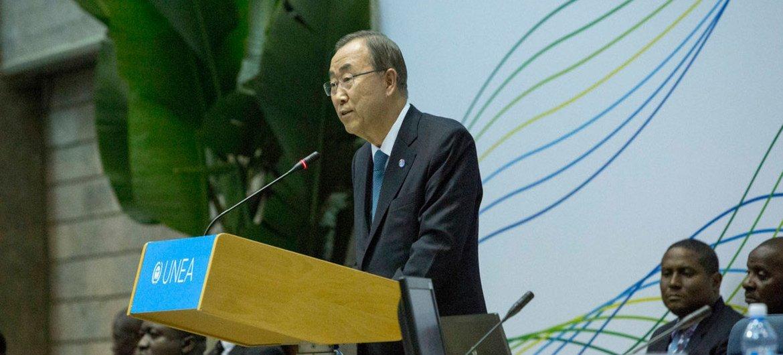 El Secretario General de la ONU, Ban Ki-moon, participa en la Asamblea de la ONU sobre Medio Ambiente  Foto:PNUMA