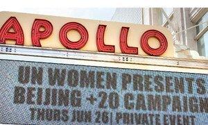 UN Women Celebrates Beijing+20 Launch at Apollo Theater.