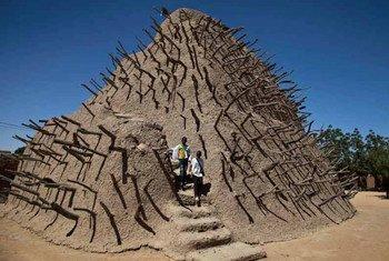Un mausolée de la ville de Tombouctou, au Mali.