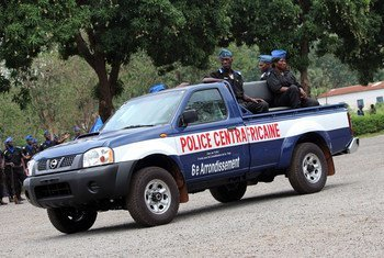 New vehicles like these were provided for the use of the police in Bangui.