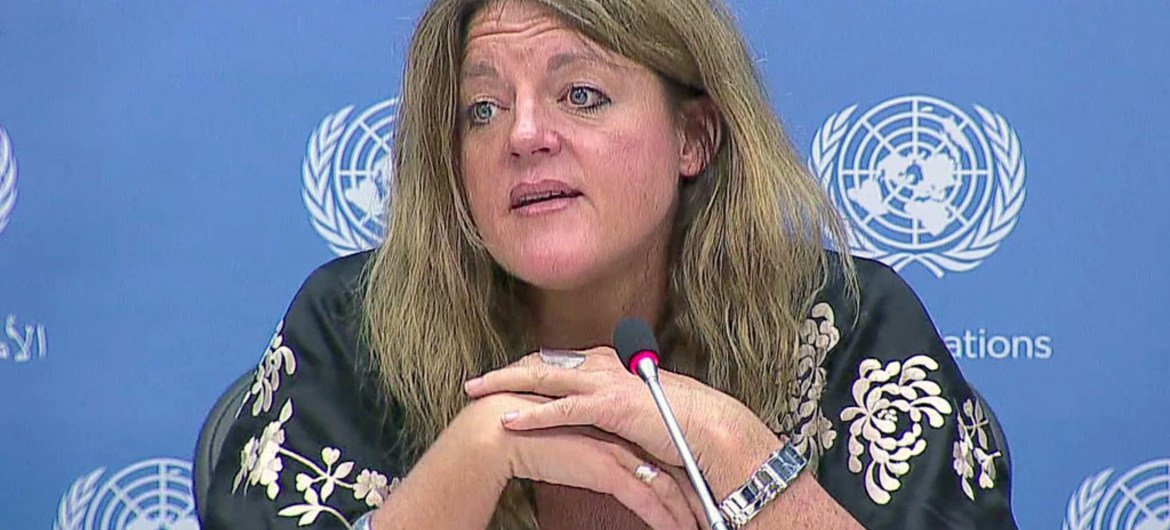 Special Representative and Head of the UN Mission in the Republic of South Sudan (UNMISS) Hilde Johnson.