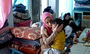 Des civils déplacés dans le gouvernorat de Duhok, en Iraq.