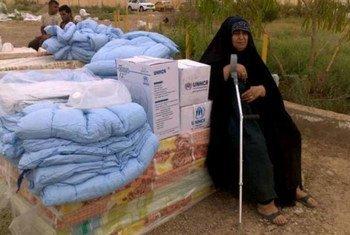 Une femme iraquienne déplacée par le conflit dans la province d'Anbar, en Iraq. Photo HCR