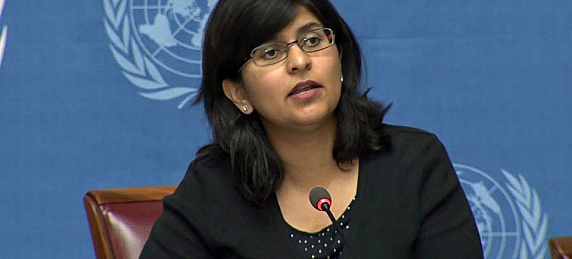 Ravina Shamsadani, Spokesperson for the Office of the UN High Commissioner for Human Rights.