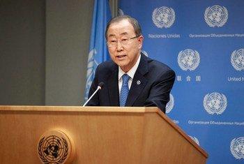 El Secretario General de la ONU, Ban Ki-moon,  Foto:  ONU/Paulo Filgueiras