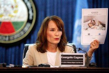 La chef des droits de l'homme de la MANUA, Georgette Gagnon.
