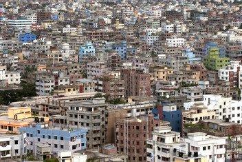 Vista de la ciudad de Dhaka, Bangladesh  Foto: ONU/Kibae Park