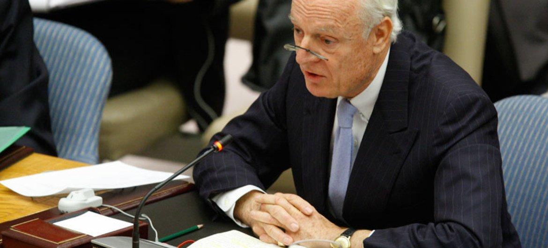 Staffan de Mistura, special envoy for Syria crisis.