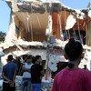 Casa destruida en bombardeo israelí a Gaza. Foto: ONU-Shareef Sarhan