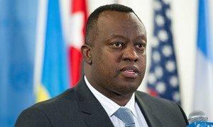 Security Council President, Ambassador Eugène-Richard Gasana of Rwanda.