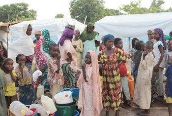 Des enfants centrafricains réfugiés au Tchad.