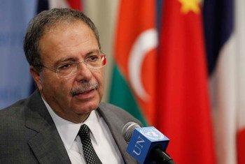 El representa de la ONU en Libia y jefe de la UNSMIL, Tarek Mitrio,  Foto: ONU/Paulo Filgueiras