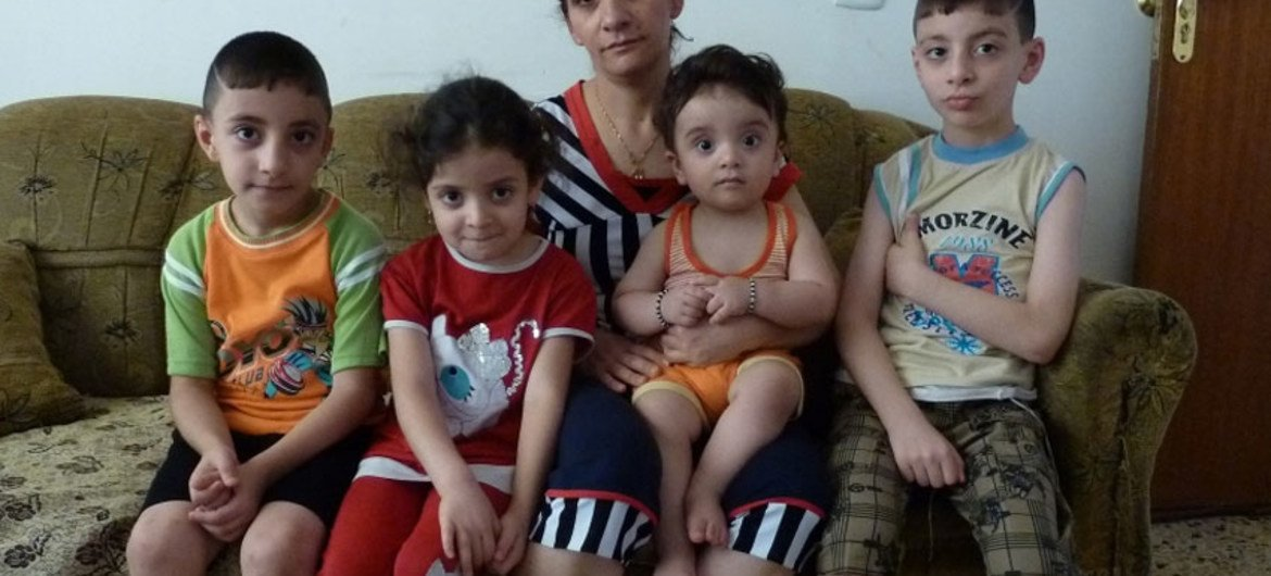 This Christian Iraqi family fled the town of Qaragosh, 30km east of Mosul, in June 2014, after militants from the Islamic State of Iraq and the Levant (ISIS) took control of Mosul and other areas of northern Iraq.