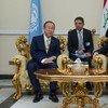 El Secretario General de la ONU, Ban KI-moon, se reunió con el primer ministro iraquí, Nouri al-Maliki,  Foto:  ONU/Eskinder Debebe